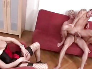 She loves watching gay fucking...