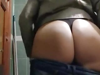 Mommy boobs nude toilet...