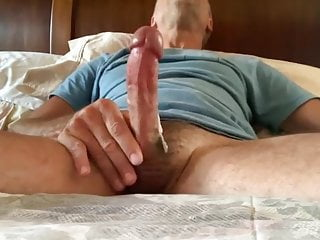 His nice hairy cock thick white load...