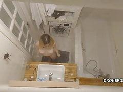 Kamila in the bathroom - Spy cam