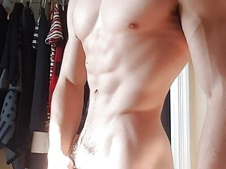 Sexy man naked on cum