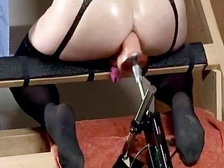 Sissy with machine and poppers...
