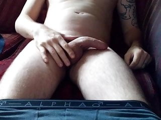 Watch man wank while he's watching porn (while wife at work)