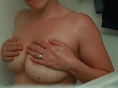 Lactating Milky Tits Wife Takes A Bubble Bath