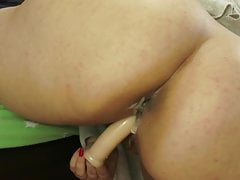 Huge ass webcam milf with dildo in her Wet pussy