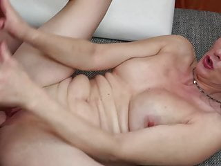 Mature mother opens her warm pussy for son