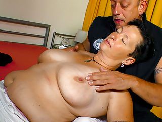 amateur euro - german chubby granny seduced by mature manPorn Videos
