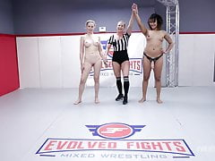 Lesbian Sex Fight with Daisy Ducati Against Lilly James