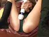 Helga squirts through her panties and masturbates