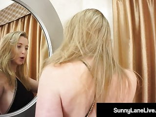 Hot Sunny Lane Is A Stand Up Gal! Even When Masturbating!