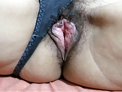 My Wife's Big Hairy Pussy After Being Licked And Fucked