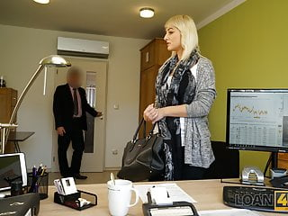 LOAN4K. Sweet beautiful gives up vagina for drilling to Mischievous loan agent