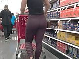 Candid PAWG whooty shopping
