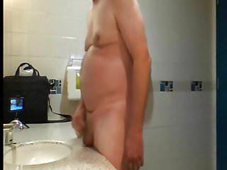 Public washroom getting naked and masturbating...