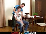 Watch his 1st gay blowjob and sex