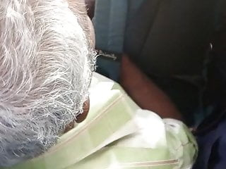 tamil steaming hot enormous boobed classmate bitch teasing oldman in bus:2