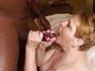 By no means to feeble to suck That big black cock grandma!!!