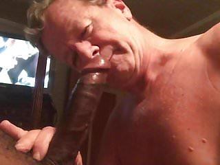 Porn slut Neal Blosmen DeepThroats a 10 inch Big Black Cock!