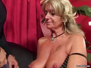 Granny enjoys machine...