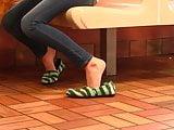 Chasity Toms shoeplay barefoot restaurant Full Video