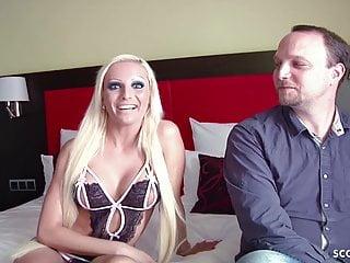 Skinny German Teen Tight-Tini in Real Big Dick Fan-Date