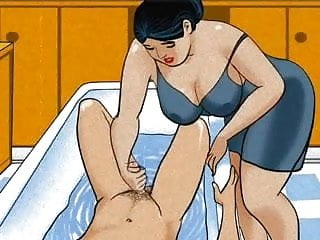 dick Mature handjob her mom boy! Animation!