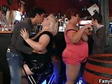 Hot bbw party in the bar