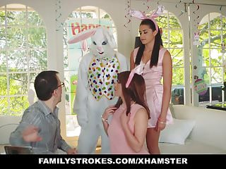 FamilyStrokes – Cute Teen Fucked By Easter Bunny Uncle