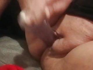 Geil Fotze schoen den dildo rein