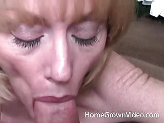 Mature blonde in homemade porn...