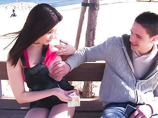 Letsdoeit babe seduces stranger in public...