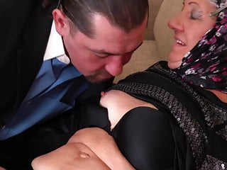 younger Old fucked granny by daddy