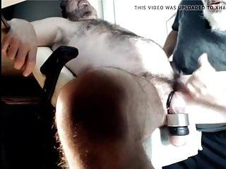 Forced hj cumshot by bearded silverdad...