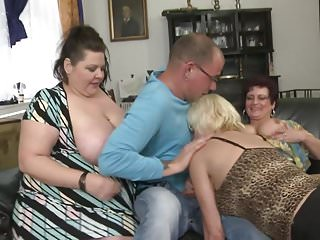 Busty lucky attack mature MOMs boy