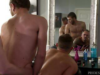 Extrabigdicks anal threesome...