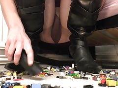 Vacuuming up toys