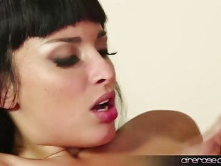 Airerose brunette babe fucks some young guy...
