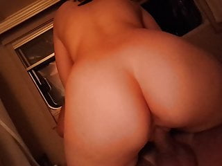 Slovenian pawg riding her daddy's dick