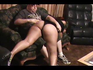Bbw redbone spanking...