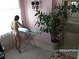 Czech teen Kecy Hill - Naked ironing