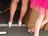 Awesome milf feet candid