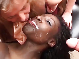 banged group brutal babe bukkake hot chocolade