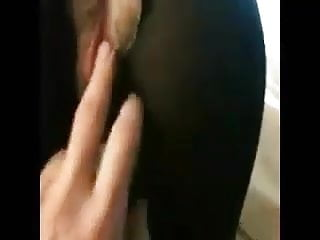 Dirty wife likes it when her bum and tights get the cream