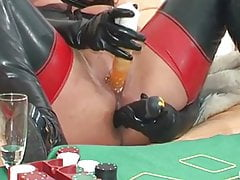 German Spandex Cougar Plays And Squirts