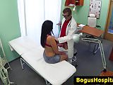 Busty euro amateur fucks doctor in his office