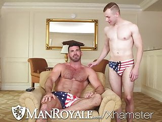 Gayroom hunks fuck in celebration of labor day...