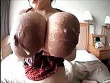 Addies huge Areola and stocking suspender fetish 1
