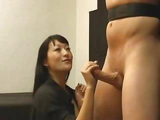 Asian harsh handjob 1...