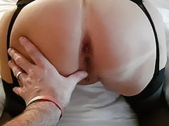 Slutty wife dressed to fuck waiting for cock