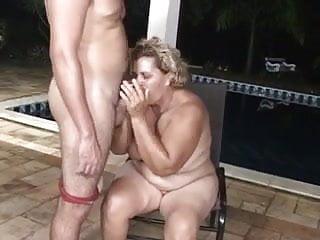 Pool boy butt big granny...